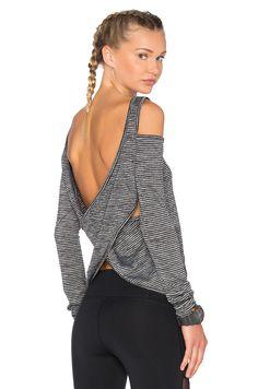 ∞ Body Language Razor Pullover in Grey Stripe
