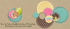 Megan Turnidge - How to fake doodled circles in Photoshop - Tutorial and Freebie