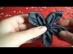 Tutorial Autunno: Cerchietto per Capelli con Fiore in Stoffa - ♥ - DIY Hairband with Fabric Flower - YouTube