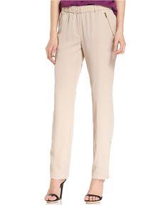 Calvin Klein Pants, Straight-Leg Convertible - Pants & Capris - Women - Macy's