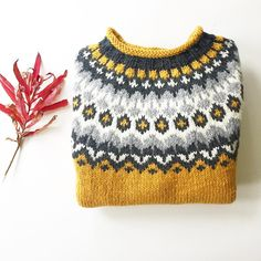 Lets finish the week with some extra cuteness in the shape of a lovely knitted by using 😍 Order this… Icelandic Sweaters, Poncho, Fair Isle Knitting, Drops Design, Knitted Hats, Needlework, Knit Crochet, It Is Finished, Shapes