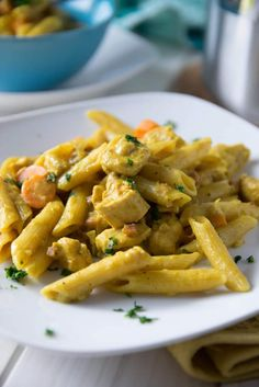 Cremige Curry Pasta