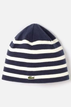 Lacoste Boy's Green Croc Cotton Wool Knit Ski Cap : Accessories