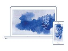 31 | Mallory Overton for Hello Lovely Living | Free Wallpapers For Your Desktop + Phone | Calligraphy + Watercolor