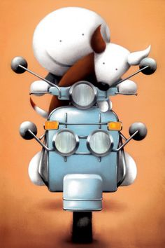 The Modfather - Edition on Paper by Doug Hyde Vespa Ape, Anne Stokes, Cute Images, Pretty Pictures, Candy Art, Eye Candy, Car Illustration, Cute Monsters, Whimsical Art