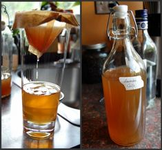 homemade lavender liqueur from Voodoo & Sauce - perfect with sparkling lemonade