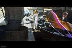"""Sydney Jay Mead, commonly Syd Mead (born July is a """"visual futurist"""" and a neofuturistic concept artist. He is best known for his designs for science-fiction films such as Blade Runner, Aliens and Tron. Blade Runner, Aliens, Cyberpunk, Science Fiction, Syd Mead, 70s Sci Fi Art, Art Vintage, Retro Futuristic, Futuristic Vehicles"""
