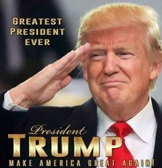 Greatest President EVER! Thank you President Trump!