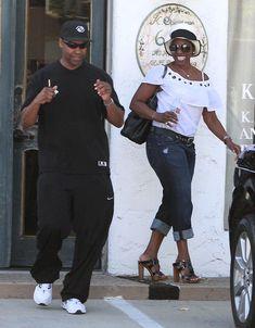 | Actor Denzel Washington and his wife Pauletta Washington out shopping ...