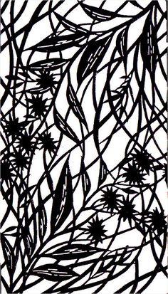 foliage : 1909 Japanese Stencil Design