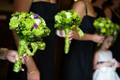 Gorgeous bridesmaid bouquets.