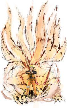 Naruto-Kyubi by sersorroza