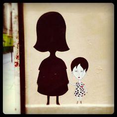 Street Art - Fred le Chevalier / Impasse Saint Claude (Le Marais - Paris IIIème).