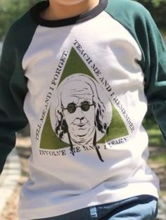 Awesome Ben Franklin shirt - perfect for your budding scientist!