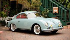 Vintage blue Porsche 356