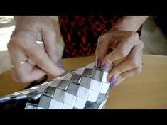 a quick tutorial on how to give your candy wrapper purse a flat bottom. Candy Wrapper Purse, Candy Wrappers, Candy Bags, Custom Purses, Origami And Quilling, Paper Purse, How To Make Purses, Magazine Crafts, Paper Weaving