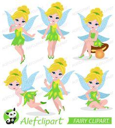 Clipart Fairy, Tinkerbell Clipart, Fairy Digital Clipart