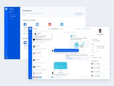 This is a concept of the Chat dashboard. Not only can you manage the messages from your message platform, but you can also manage the posts and comments that your customer sent from the Social medi. Dashboard Ui, Dashboard Design, App Ui Design, Web Design Trends, Tablet Ui, Program Management, Chat App, Wireframe, Microsoft Excel