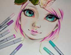As you guys seemed to be most interested in seeing some elves and fairies I just started with this Rainbow Elf girl A great occasion to play with all the beautiful colors Copic offers&nb...