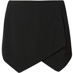 Tall Black Crepe Skort (£10) ❤ liked on Polyvore featuring skirts, mini skirts, bottoms, shorts, skorts, black skort, summer skirts, black skirt, skort skirt and black golf skirt