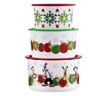 Disney Mickey and Friends Holiday Celebration Stacking Canisters  *We Pay YARDSELLR'S SLICE **