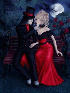 Goth Beauty - Purple by Enamorte on DeviantArt Gothic Fantasy Art, Fantasy Girl, Fantasy Couples, Goth Beauty, Dark Beauty, Whispers In The Dark, Gothic Aesthetic, Halloween Drawings, Style Challenge