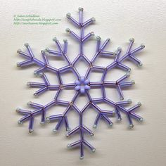Snowflake of bugles. Free detailed tutorial.