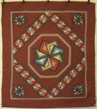 Starspin Patchwork Amish Quilt 101x115