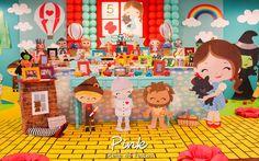 Um filme clássico e uma decoração encantadora! Hoje no blog temos a Festa Mágico de Oz. Decoração Pink Ateliê de Festas. Lindas ideias e muita ins...