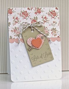 12 Kits Rewind: Created by Michelle, Pretty Periwinkles Valentine Crafts, Valentine Day Cards, Quick Cards, Heart Cards, Love Cards, Periwinkle, Projects To Try, Card Making, Scrapbook