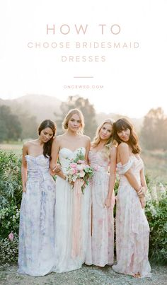 Ideas for Choosing Bridesmaid Dresses - Once Wed