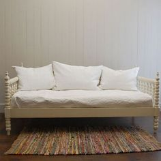 English Farmhouse Daybed French White and Luxury Kid Furnishings Including Armoires in Childs Furniture : Childrens Beds at PoshTots