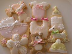 Baby girl cookies - beautiful.