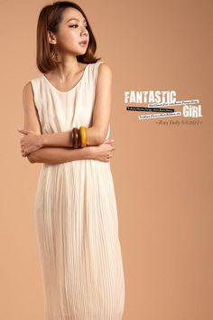 Rosy Dolly  Pleated Sleeveless Chiffon Dress  Reference Price:	CA$48.00^  YesStyle Price  US$48.00