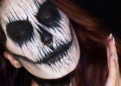 Gotta try this make-up out! Makeup Fx, Demon Makeup, Male Makeup, Skull Makeup, Makeup Ideas, Halloween Makeup Sugar Skull, Amazing Halloween Makeup, Halloween Men, Halloween Cosplay