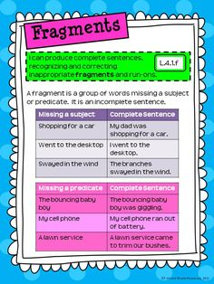 Rockin Resources: Fragments and Run-ons for Interactive Notebooks