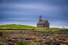 The Church - While on the road in Iceland, my friends were tired of stopping for me every now and then to photograph nice landscapes (which appeared so often). So when we were passing this church, I decided to photograph it while moving (lest they throw me out). I already had the camera settings on appropriate values, so I quickly turned towards my right and snapped few pictures in haste. This one was best of them all. In hindsight, I wish I had told them to stop the car for this church. But… Cool Landscapes, Beautiful Landscapes, Prayer Rocks, Hindsight, I Wish I Had, Camera Settings, I Decided, Gods Love, Religion