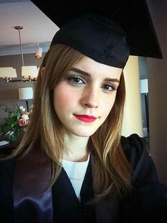 "It's graduation day for movie star Emma Watson. The British actress best known as Hermione Granger in the ""Harry Potter"" movies is set to be among the graduates receiving degrees Sunday from Brown University. Lucy Watson, Alex Watson, Mary Elizabeth Winstead, Jessica Chastain, Teresa Palmer, Enma Watson, Pixie Crop, Brown University, University Graduate"