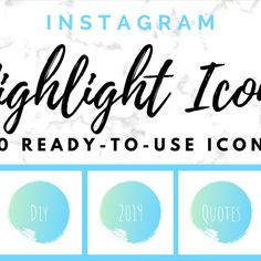 Brand your Instagram account with these handwritten ocean blue highlight covers 🌊  This pack of includes 50 Instagram Icons and Text Highlights in a handwritten style that will take your Instagram Story Highlights to the next level!