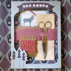 ask alice parcel packing kit - eco loving, tree-hugging stationary