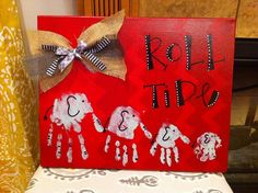 Elephant Hand Prints ~ my Grands made one of these for my Mothers a Day gift !  #1lovednanny