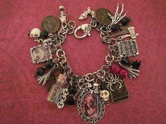 Marie Laveau 1800s Voodoo Queen New Orleans Altered Art Steampunk Charm Bracelet #AlteredArt