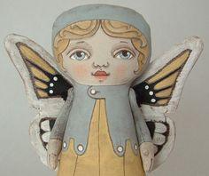 butterfly folk art doll by cartbeforethehorse