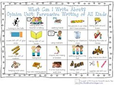 ***FREE*** WHAT CAN I WRITE ABOUT CHART-LUCY CALKINS: OPINION UNIT: PERSUASIVE WRITING - Two Tall Teachers