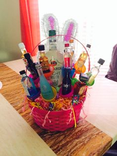 Diy easter basket for the man in your life easter pinterest adult easter basket negle Image collections