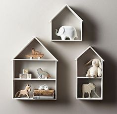 Otthon és dekor: Házikó formájú polcok