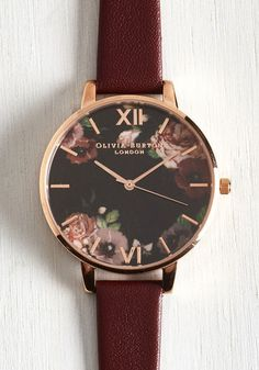 Minute by Magnificent Watch by Olivia Burton - Red, Floral, Work, Casual, Best, Fall, Exclusives, Private Label