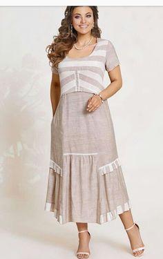 Mature Fashion, Curvy Girl Fashion, Plus Size Fashion, Womens Fashion, Dress Outfits, Fashion Dresses, Kurta Designs Women, Classy Dress, Striped Dress