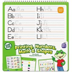 The Board Dudes LeapFrog SmartDudes Activity Book, Printing/Numbers/Math/Shapes, Dry Erase