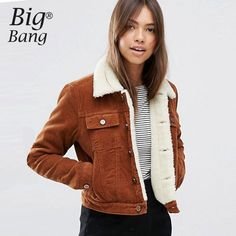 Aliexpress.com : Buy 2016 Autumn and Winter Women Jackets Fleece Thicken Corduroy Jacket Coats Flap Pockets Warm Coat Jackets Women Coat M16120901 from Reliable coat clasp suppliers on Boutique, Big  Bang